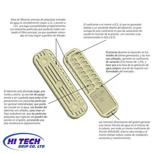 Cinta con goteros eolos compact hi tech 17 mm