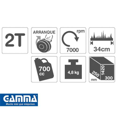 Bordeadora Gamma 1HP Artículo G1831