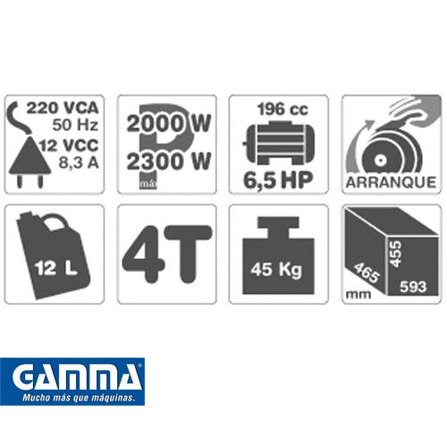 Grupo Electrógeno Gamma 6,5hp Modelo 2500v