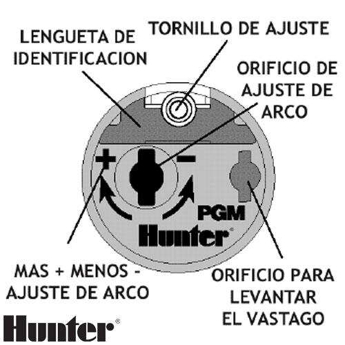 LLAVE DE REGULACIÓN PARA ASPERSOR HUNTER PGP Y PGJ RIEGO