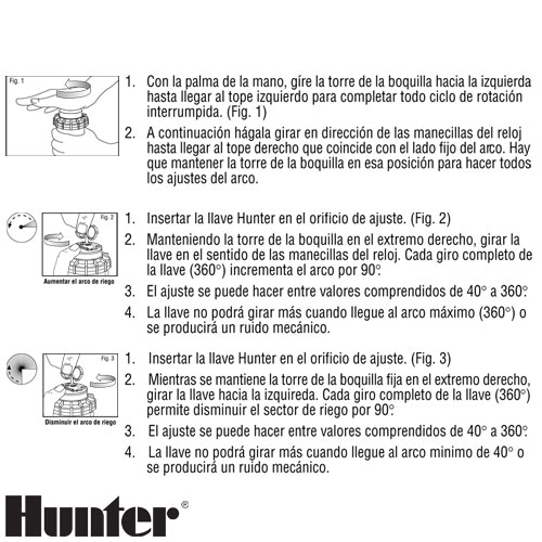 ASPERSOR HUNTER PGP ULTRA RIEGO ARCO AJUSTABLE RADIO 5 A 14 M