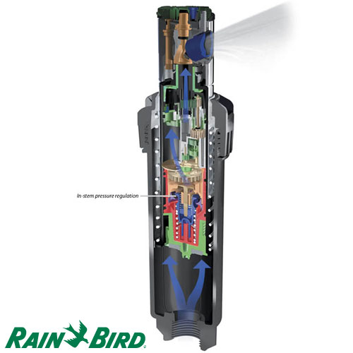 ASPERSOR ROTOR DE RIEGO RAIN BIRD S5000 RADIO 7.6 A 15 MTS