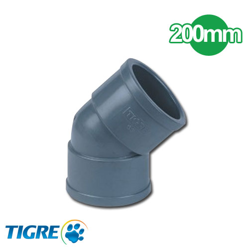 CODO 45º PVC SOLDABLE 200mm