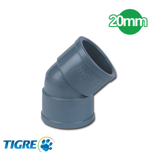 CODO 45º PVC SOLDABLE 20mm