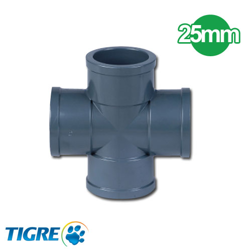 CRUCETA PVC SOLDABLE 25mm