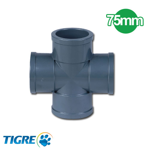 CRUCETA PVC SOLDABLE 75mm
