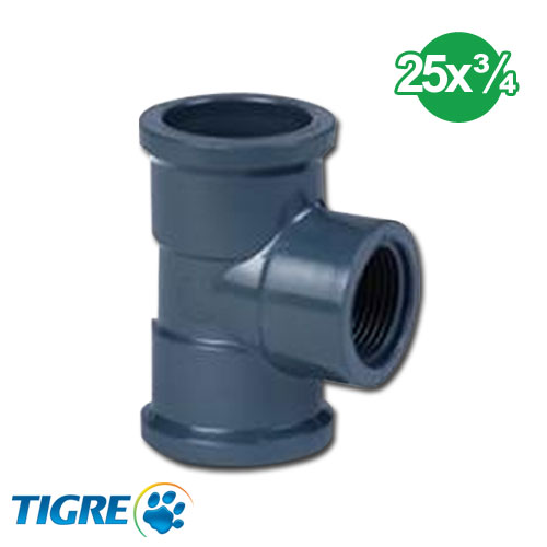 TEE 90º PVC SOLDABLE ROSCABLE 25mm x 3/4