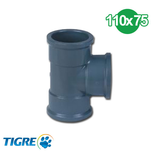 TEE REDUCCIÓN PVC SOLDABLE 110 x 75mm