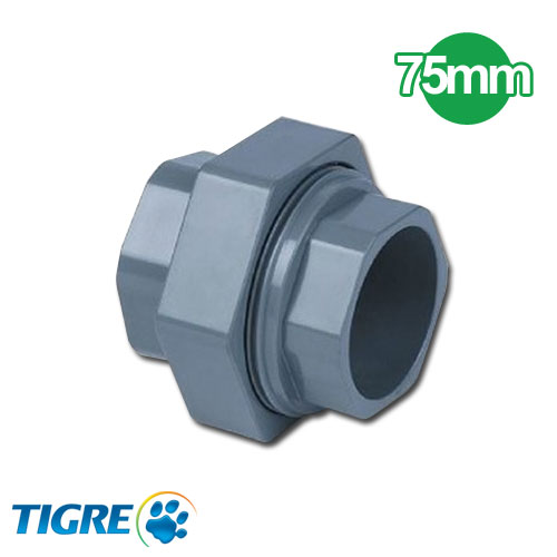UNION DOBLE PVC SOLDABLE 75mm